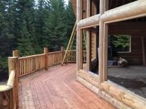 Log Home Decks & Railings