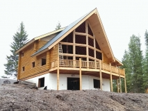 Log Home Dry-In
